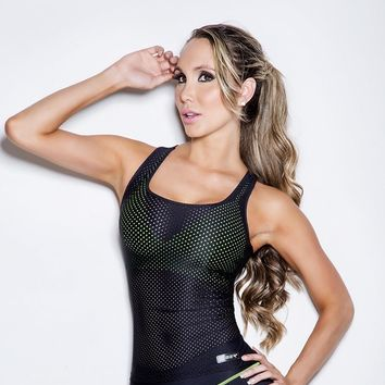 FIBER BLACK MESH ACTIVEWEAR TOP
