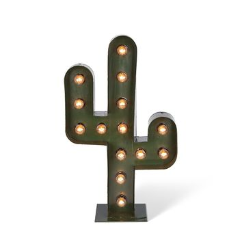 Large Cactus Floor or Wall Marquee Light - 31-in H