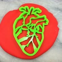 Anatomical Heart Cookie Cutter Detailed - CHOOSE Your Own SIZE - Fast Shipping!
