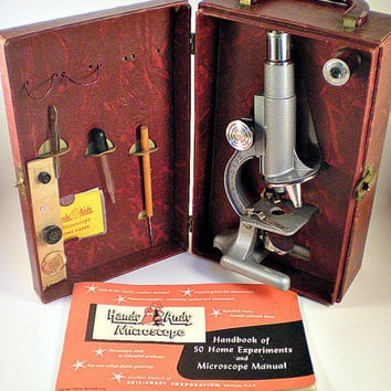 Handy Andy Vintage Children's Microscope Set