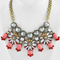 Sparked Coral Statement Necklace