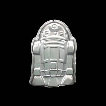 1980 R2D2 Cake Pan Vintage Star Wars Wilton Aluminum Mold Novelty Collectible Baking Robot Space Scifi Birthday Party Empire Strikes Back
