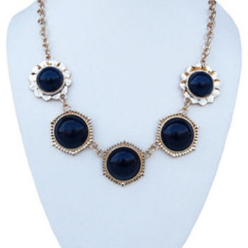 Statement Necklace - Navy