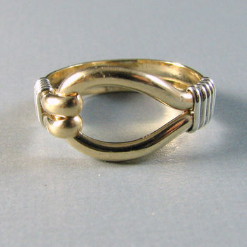 14K GF Sterling Silver Two Tone Loop Ring Custom by WireYourWorld