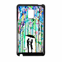 Love Song Romantic In The Rain Paint Samsung Galaxy Note Edge Case