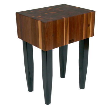 "John Boos 10"" Thick Solid Walnut Butcher Block Table/Island"