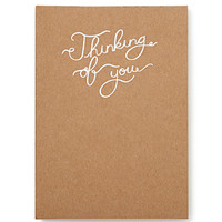 FOREVER 21 Thinking of You Notepad Brown/White One