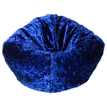 Royal Blue Chenille Bean Bag By Ace Bayou
