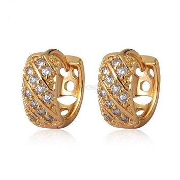 Cz Huggies 1OMM Earrings 18Kts of Gold Plated