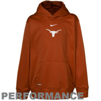 Nike Texas Longhorns Youth Burnt Orange Basic Logo Performance Pullover Hoodie