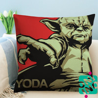 Yoda Star Wars Zippered Pillow Case, Cushion Case, Pillow case