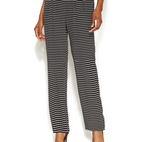 Alfani Printed Straight-Leg Soft Pants