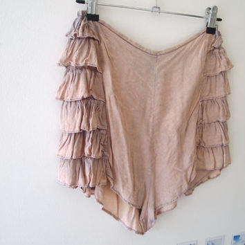 Vintage High Waisted Dusty Pink Festival Shorts