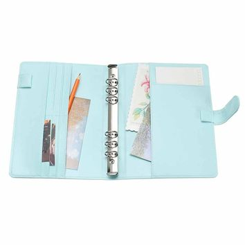 New Vintage Refillable Notebook File Folder Notepad Cover Leather Ring Binder