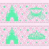 Princess Crown Nursery Decor Baby Girl Border Wall Art Decals [1055] - $12.99 : DeCamp Studios, The best selection of nursery wall murals, childrens wallpaper border, teen girl or boy wall art decals, baby premade scrapbook pages, and digital printable cli