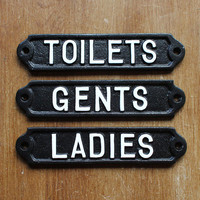 Bathroom Door Signs