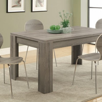 "Dark Taupe Reclaimed-Look 36""X 60"" Dining Table"