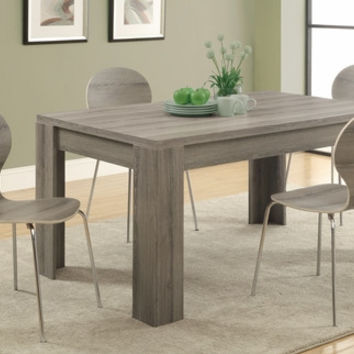 """Dark Taupe Reclaimed-Look 36""""X 60"""" Dining Table"""