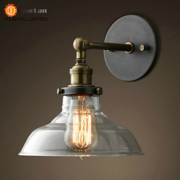Vintage Iron American Single Head Wall Lamp Loft Study Foyer Dining Room Wall Light (BD-67)