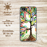 Tree of Life, Oil Paint, iPhone 5 case, iPhone 5C Case, iPhone 5S case, Phone case, iPhone 4 Case, iPhone 4S Case, Phone Skin, tr01