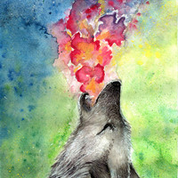 Wolf Art Print by Michelle Hébert | Society6