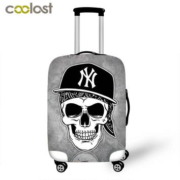 2017 new arrival cool skull travel suitcase cover for 18 20 22 24 26 28  inch luggage punk skeleton trolley case covers