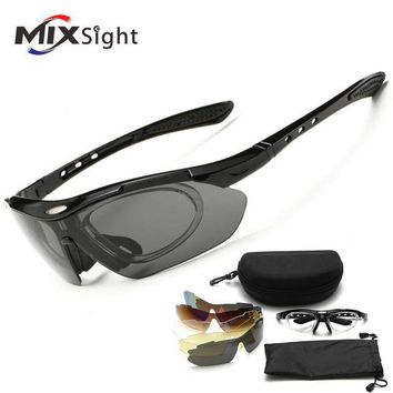 DCCK7N3 Polarized Sports Sunglasses Cycling Fishing Driving Glasses Mountain Bike Bicycle Riding Eyewear 1 Polarized and 4*PC lenses