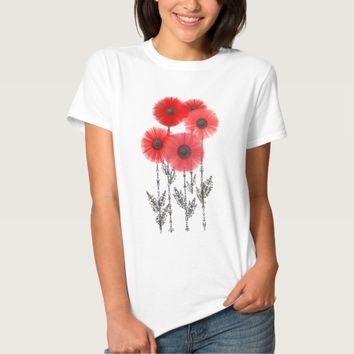 scarlet poppies t-shirt