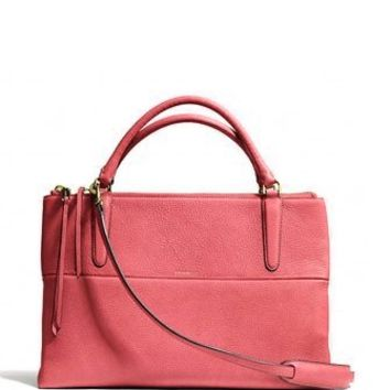 Coach The Borough Bag In Loganberry Pebble Leather