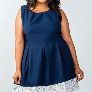 LL Plus Size Navy Dress