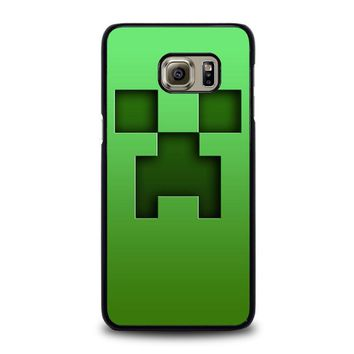 creeper minecraft samsung galaxy s6 edge plus case cover  number 2