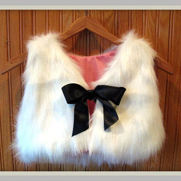 Girls Chic Faux Fur Vest by Sidewalk616 on Etsy