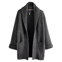 Buy Joules Fallowdale Chunky Open Cardigan, Grey Marl online at John Lewis
