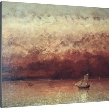 Lake Leman with Setting Sun, circa 1876 Giclee Print by Gustave Courbet at Art.com