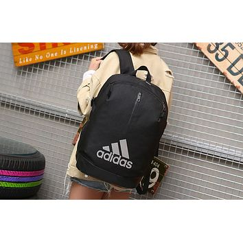 ADIDAS clover 2018 new men and women campus backpack sports travel bag F-A30-XBSJ Black+white logo