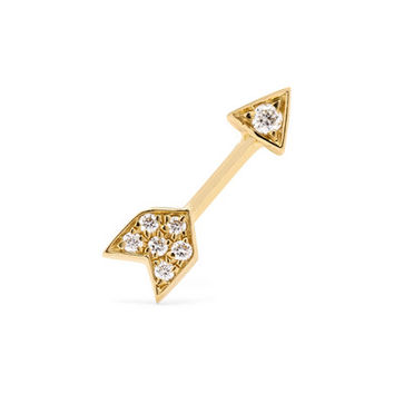 Maria Tash - Arrow 18-karat gold diamond earring