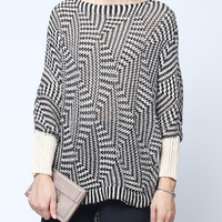 'The Lyndsey'  Geometric Patterned Pullover