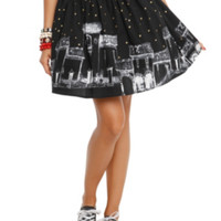 The Book Of Life Evening Skyline Circle Skirt