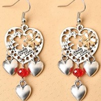 Handmade Good Luck Sweethearts Hook Earrings