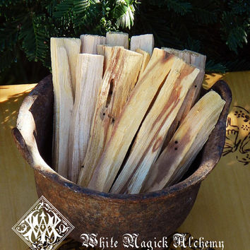 Palo Santo All-Natural Sacred Wood Incense Sticks Set of 3 . Clearing Incense, Tea, Herbal Incense, Smudging