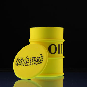 High Tech Glassworks x Sky High Extra Large Oil Barrel Silicone Container