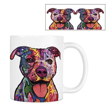 Ceramic Tie Dye Dog Mugs (variety of dog breeds)