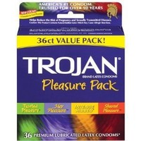 Trojan Latex Condoms, Pleasure Pack 36ct