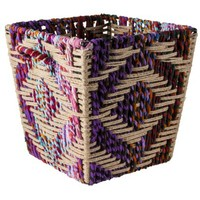 Threshold™ Decorative Woven Storage Basket - Multicolored 13x15x13""