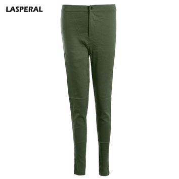 Candy Colors Skinny Pencil Pants Women Casual High Waist Solid Trousers Women Spring Autumn Street wear Flat Pants