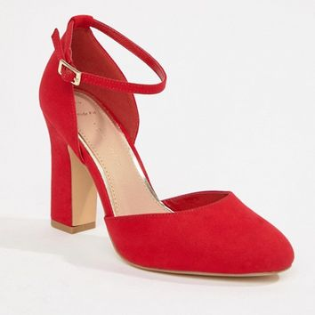 New Look Wide Fit Round Toe Heeled Shoe at asos.com