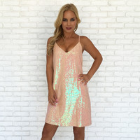 Chic & Shine Pink Sequin Dress