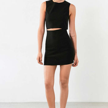 Lucca Couture Twill Slash-Waist Mini Dress - Urban Outfitters