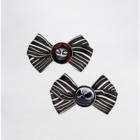 The Nightmare Before Christmas Hair Bow Set - Spencer's