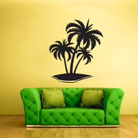 rvz1679 Wall Decal Vinyl Sticker Decals Palm Beach Waves Ocean Sea Poster